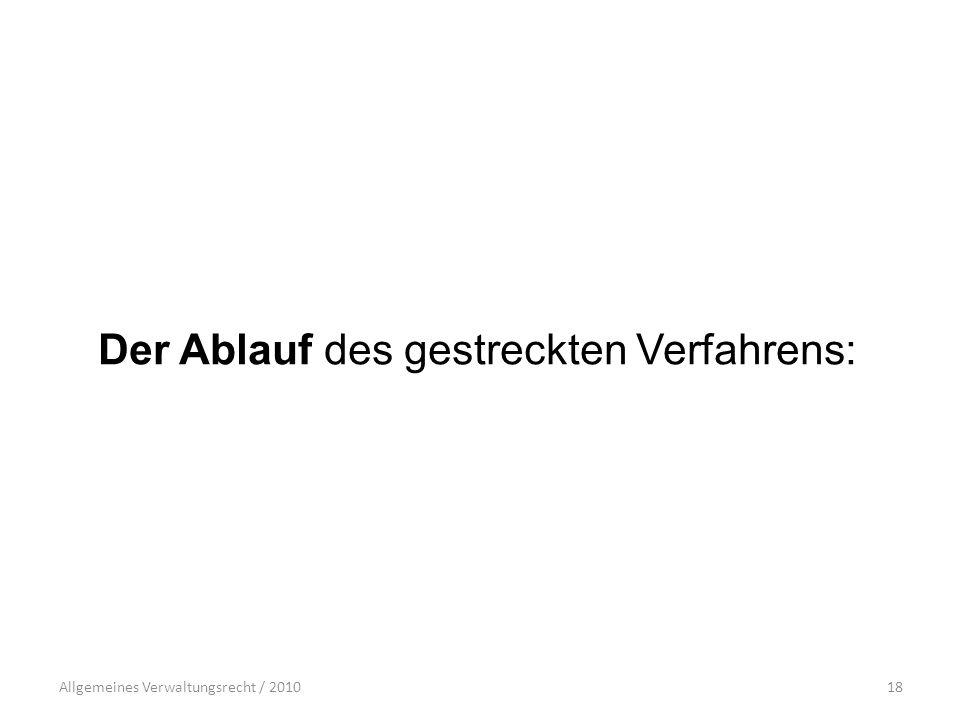 Allgemeines Verwaltungsrecht / 201018 Der Ablauf des gestreckten Verfahrens: