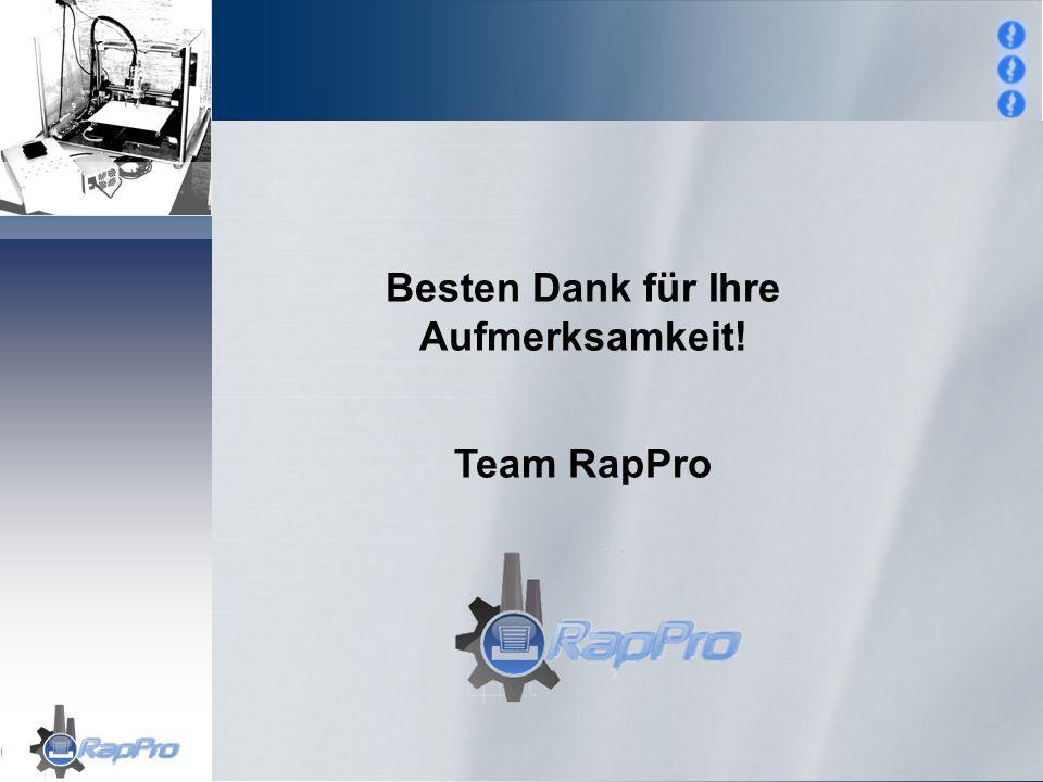 Besten Dank für Ihre Aufmerksamkeit! Team RapPro
