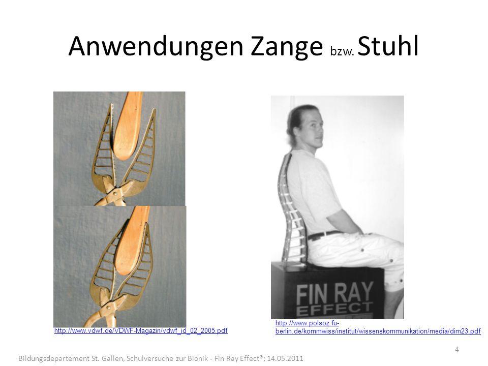 Anwendungen Zange bzw. Stuhl http://www.vdwf.de/VDWF-Magazin/vdwf_id_02_2005.pdf http://www.polsoz.fu- berlin.de/kommwiss/institut/wissenskommunikatio