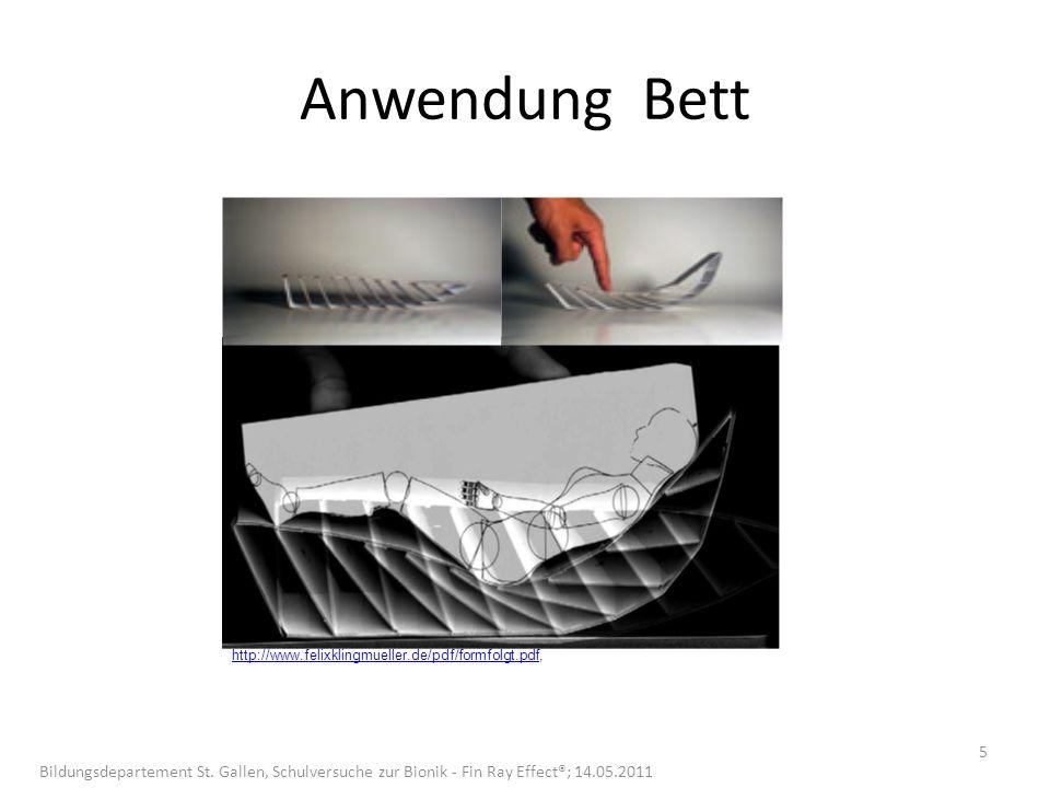 Anwendung Bett http://www.felixklingmueller.de/pdf/formfolgt.pdfhttp://www.felixklingmueller.de/pdf/formfolgt.pdf, 5 Bildungsdepartement St.