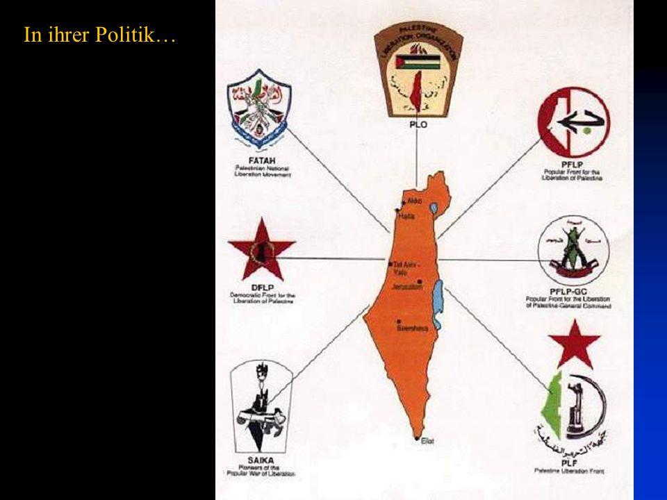 """Yasser Arafat trägt die Karte von ganz Israel auf seiner Uniform. """"Das ist Palästina vom Fluss Jordan bis zum Mittelmeer, von Rosh Hanikra bis Rafah ("""