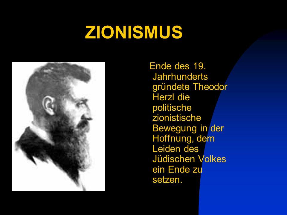 ZIONISMUS Ende des 19.