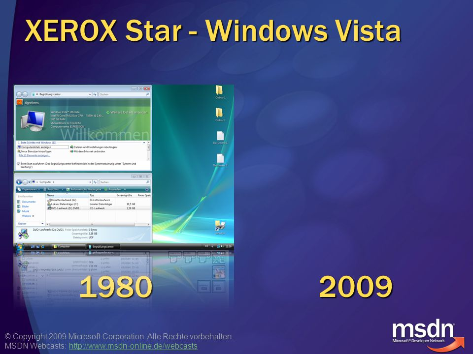 © Copyright 2009 Microsoft Corporation. Alle Rechte vorbehalten. MSDN Webcasts: http://www.msdn-online.de/webcastshttp://www.msdn-online.de/webcasts X