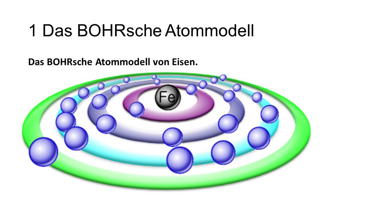 1 Das BOHRsche Atommodell Das BOHRsche Atommodell von Eisen.