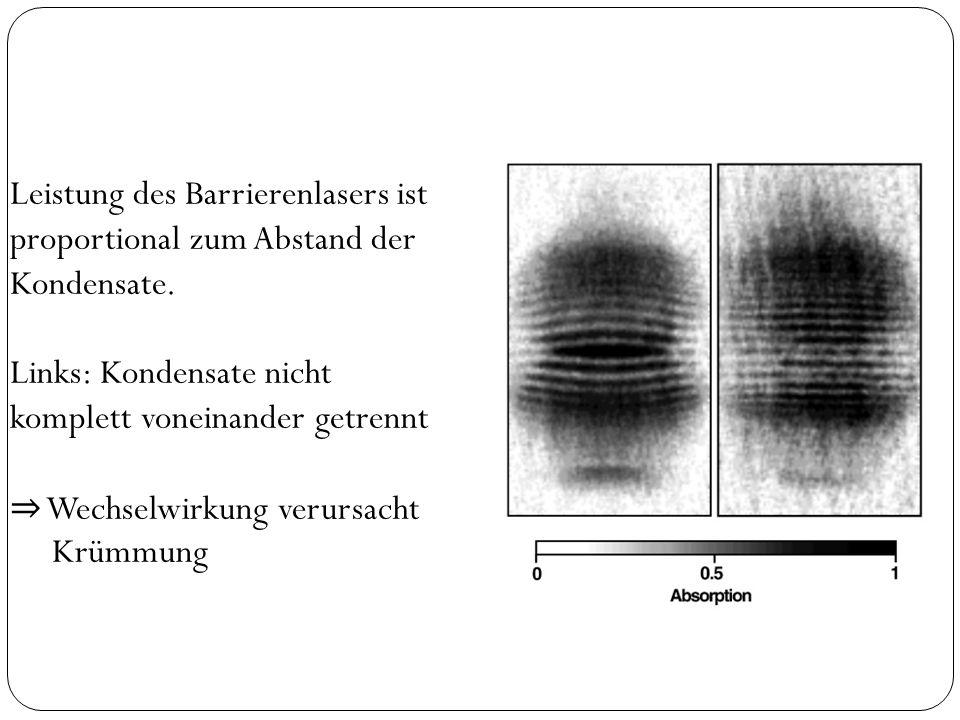 Zusammenfassung BEC: Alle Atome im Grundzustand.