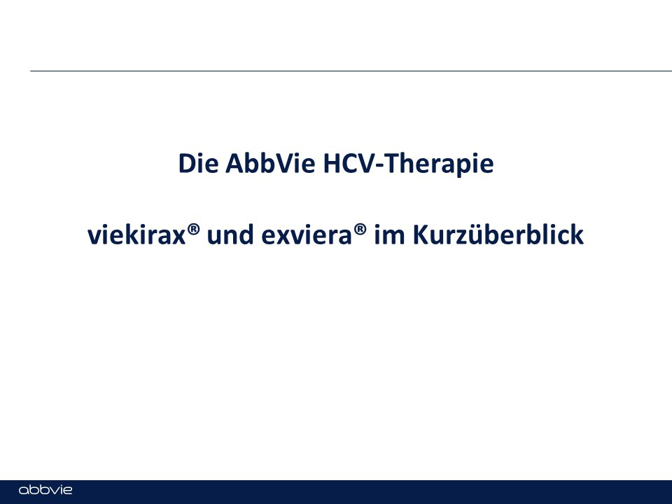 Die AbbVie HCV-Therapie viekirax® und exviera® im Kurzüberblick