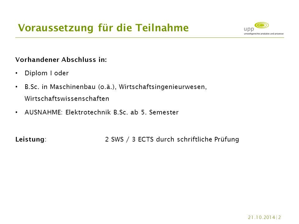 Vorhandener Abschluss in: Diplom I oder B.Sc. in Maschinenbau (o.ä.), Wirtschaftsingenieurwesen, Wirtschaftswissenschaften AUSNAHME: Elektrotechnik B.