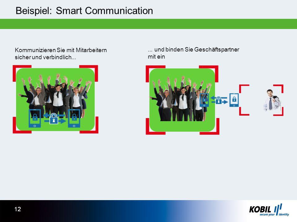 Beispiel: Smart Communication Kommunizieren Sie mit Mitarbeitern sicher und verbindlich...... und binden Sie Geschäftspartner mit ein 12