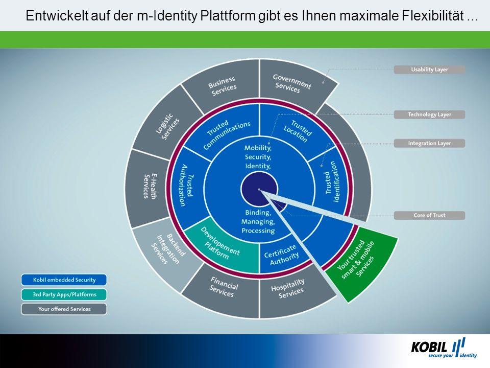 Entwickelt auf der m-Identity Plattform gibt es Ihnen maximale Flexibilität...