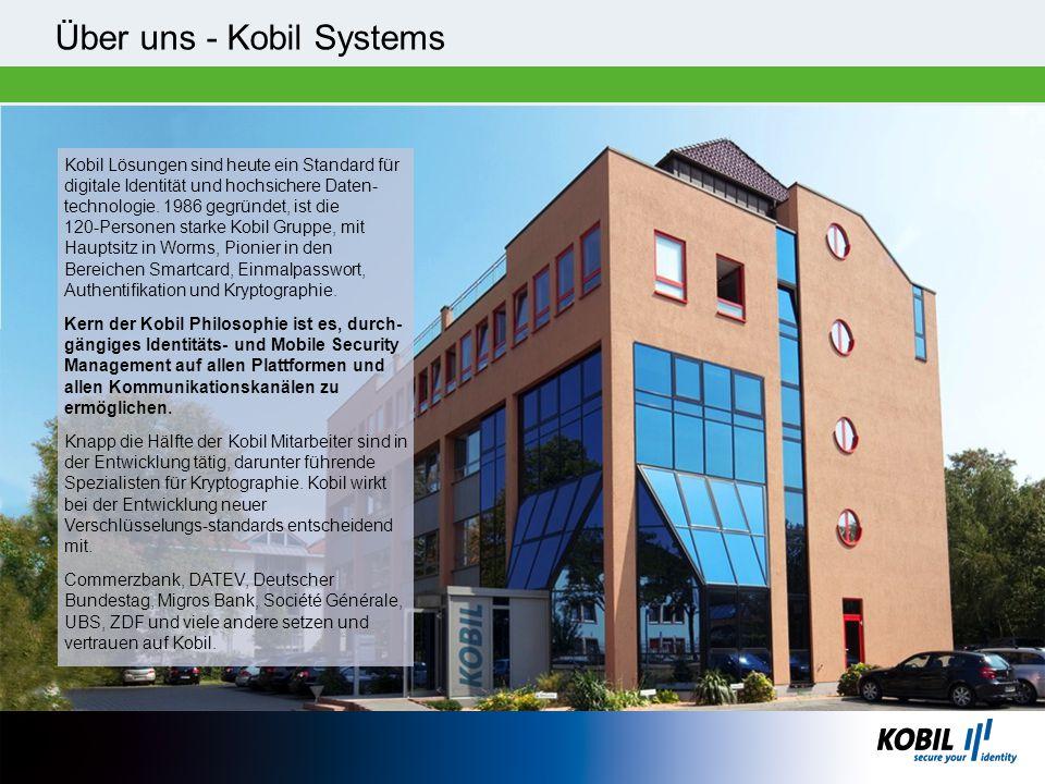 Über uns - Kobil Systems Kobil Lösungen sind heute ein Standard für digitale Identität und hochsichere Daten- technologie. 1986 gegründet, ist die 120