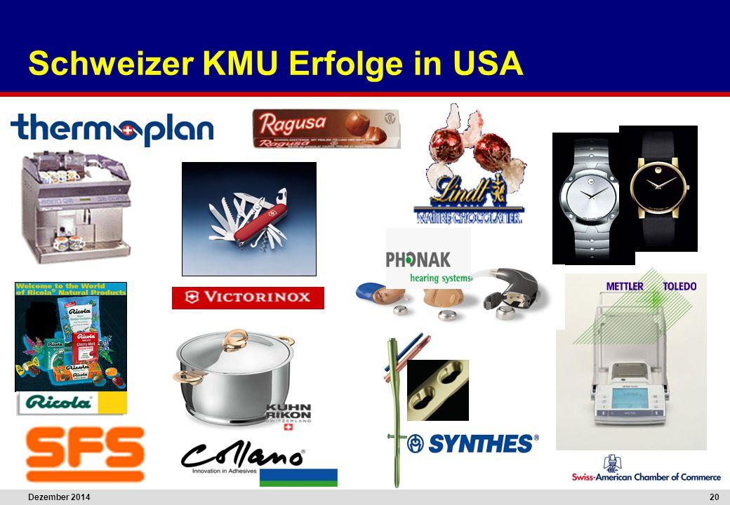 Dezember 2014 20 Schweizer KMU Erfolge in USA