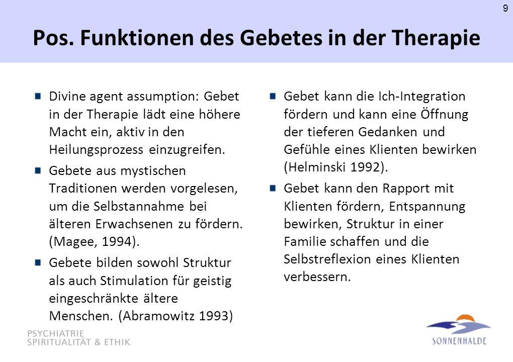 10 Ethische Aspekte des Gebetes in der Psychotherapie Walker, D.F., & Moon, G.W.