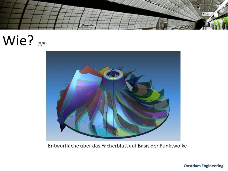 Wie? (3/5) Entwurfläche über das Fächerblatt auf Basis der Punktwolke