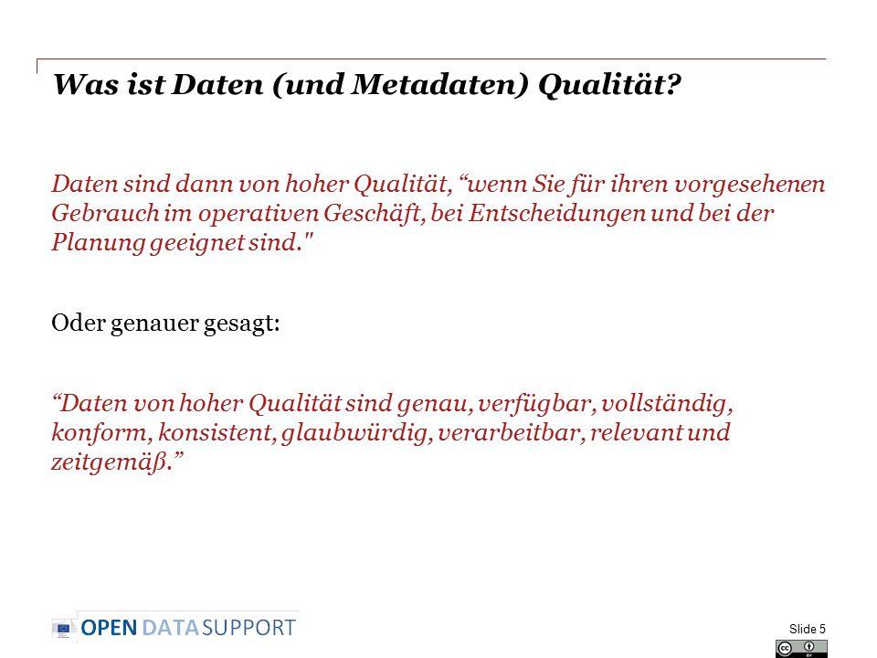 Konformität : Beispiel Hohe Konformität Geringere Konformität Slide 16 Siehe auch: https://joinup.ec.europa.eu/asset/adms_foss/ne ws/just-released-admssw-validator-verify-and- visualise-rdf-software-metadata Siehe auch: https://joinup.ec.europa.eu/asset/adms_foss/ne ws/just-released-admssw-validator-verify-and- visualise-rdf-software-metadata