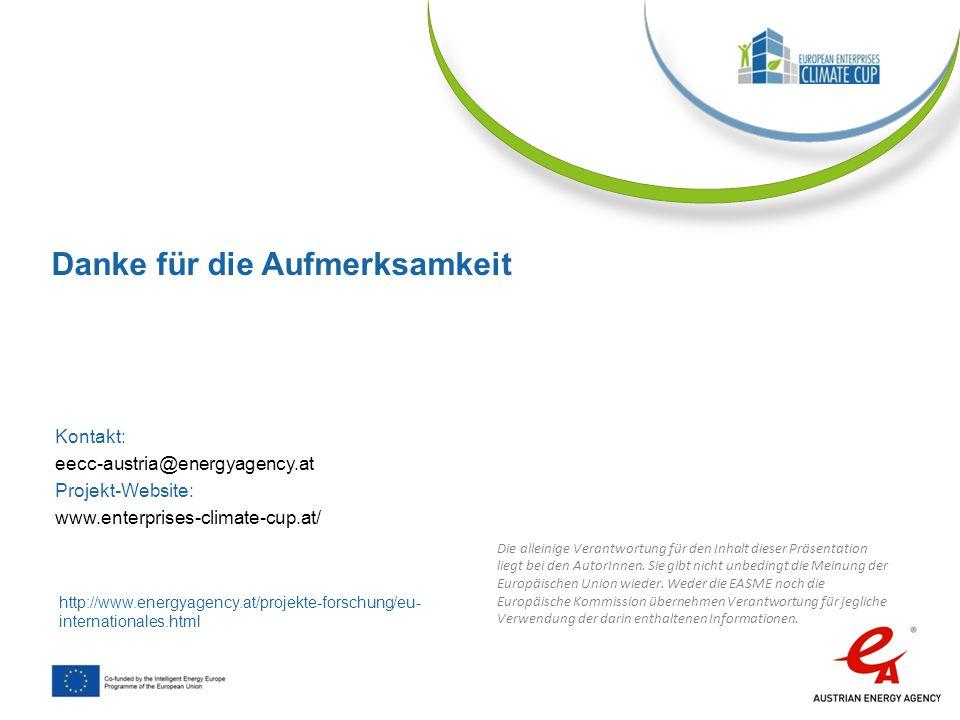 Kontakt: eecc-austria@energyagency.at Projekt-Website: www.enterprises-climate-cup.at/ http://www.energyagency.at/projekte-forschung/eu- international