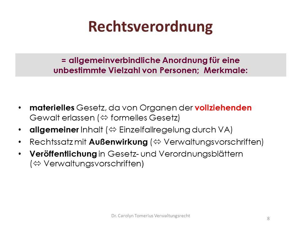 Dr.Carolyn Tomerius Verwaltungsrecht59 Widerspruchsbescheid 1.