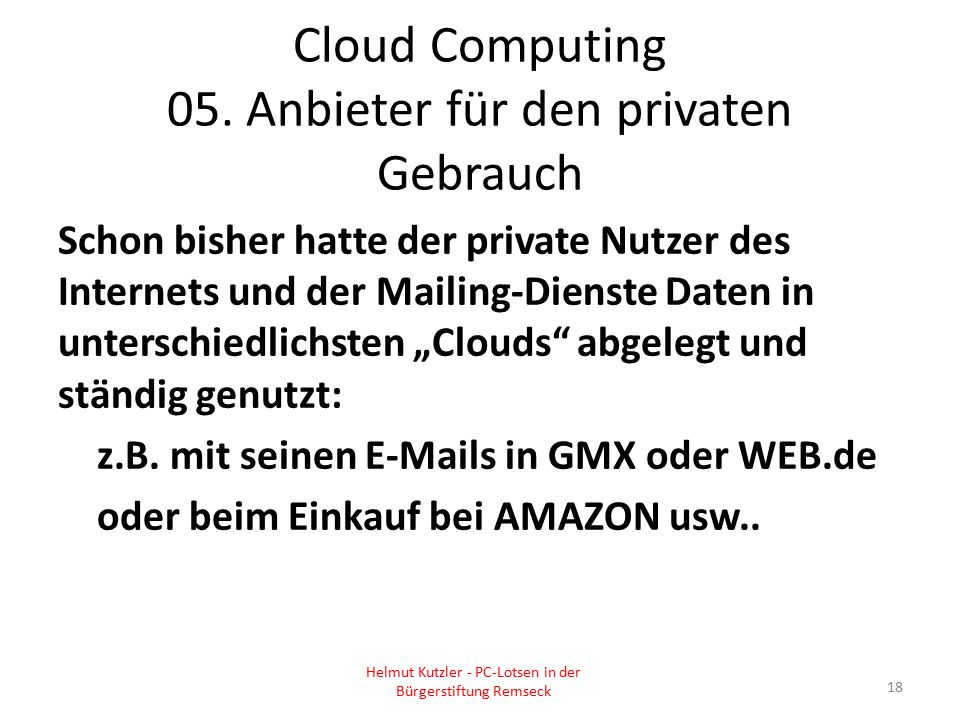 Cloud Computing 05.