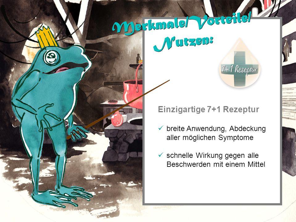 Einzigartige 7+1 Rezeptur breite Anwendung, Abdeckung aller möglichen Symptome schnelle Wirkung gegen alle Beschwerden mit einem Mittel Merkmale/Vorte