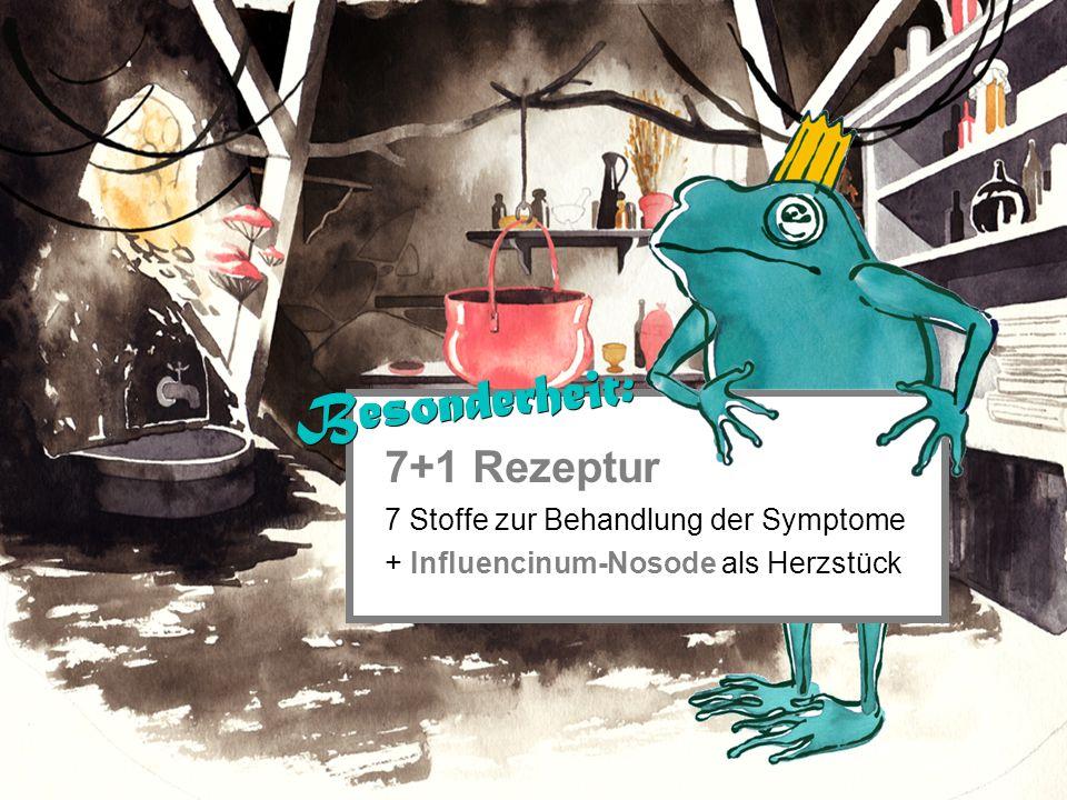 7+1 Rezeptur 7 Stoffe zur Behandlung der Symptome + Influencinum-Nosode als Herzstück Besonderheit: