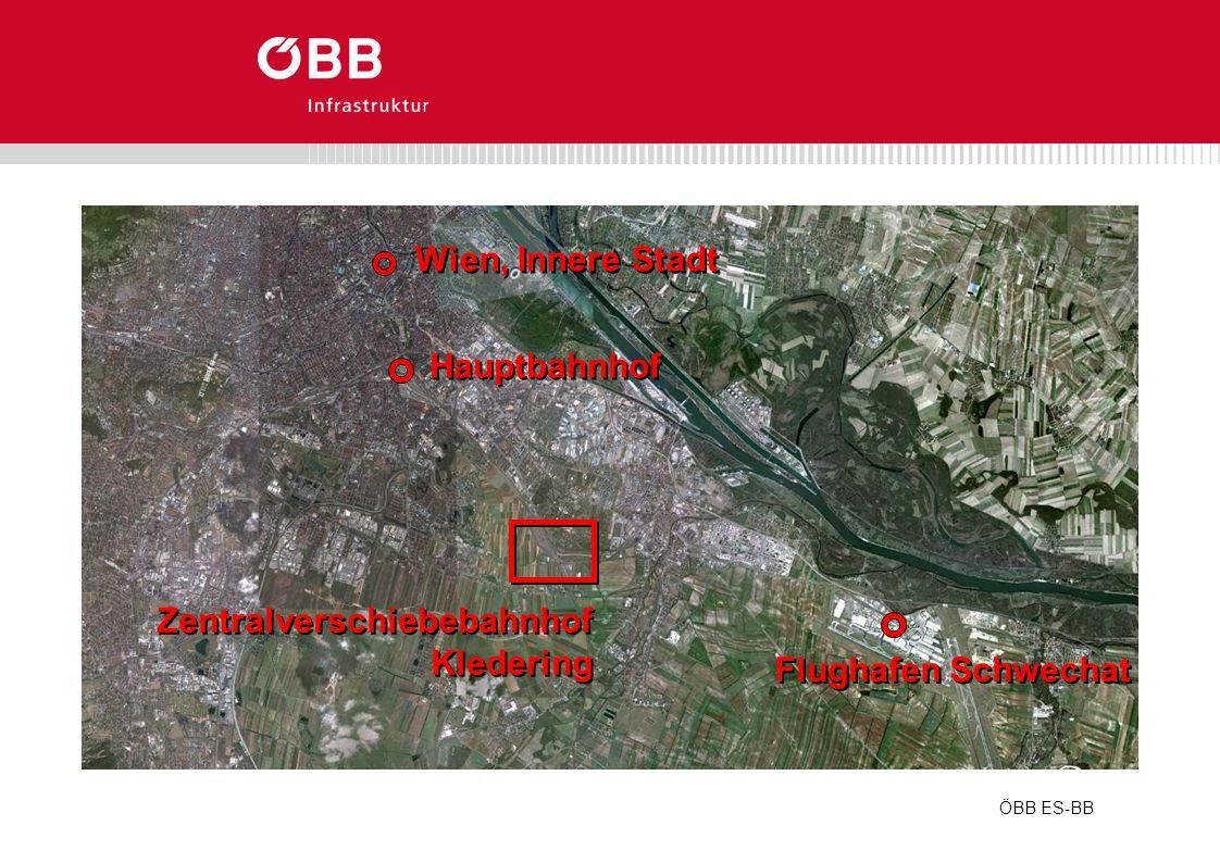 ÖBB ES-BB Wien, Innere Stadt Hauptbahnhof Flughafen Schwechat Zentralverschiebebahnhof Kledering Zentralverschiebebahnhof Kledering