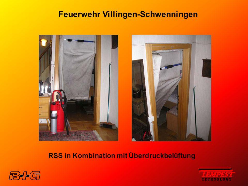 Feuerwehr Villingen-Schwenningen RSS in Kombination mit Überdruckbelüftung