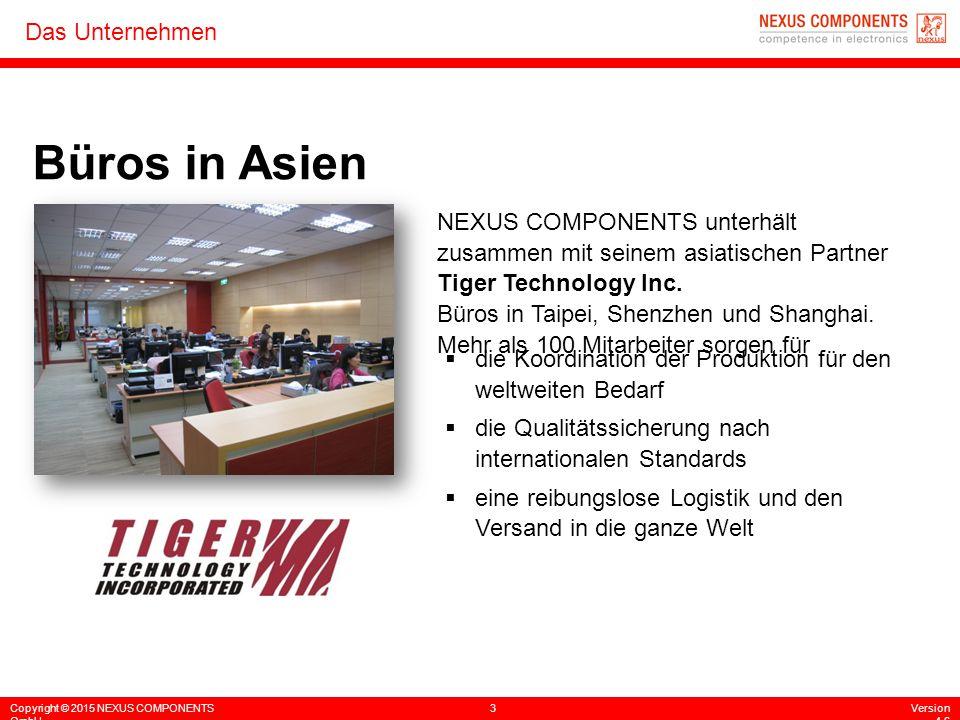 Copyright © 2015 NEXUS COMPONENTS GmbH 3Version 4.6 Das Unternehmen Büros in Asien NEXUS COMPONENTS unterhält zusammen mit seinem asiatischen Partner