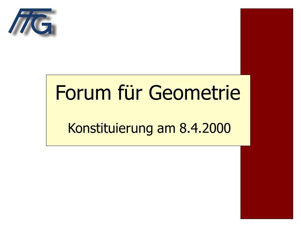 Forum für Geometrie Konstituierung am 8.4.2000