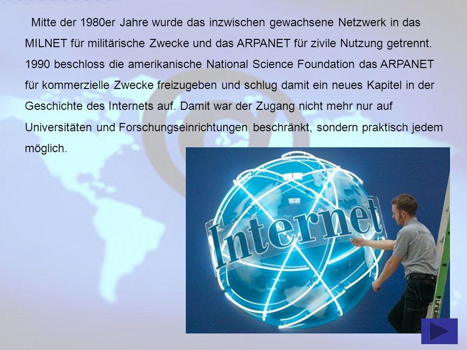 Bereits ein Jahr zuvor entwickelte ein CERN-Mitarbeiter die Grundlagen für das heute so gängige World Wide Web (WWW), welche er 1991 veröffentlichte.