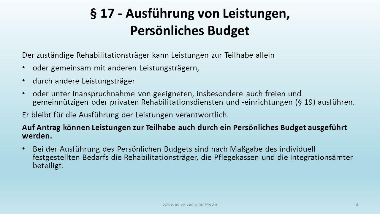 Was ist das (Trägerübergreifende) Persönliche Budget .