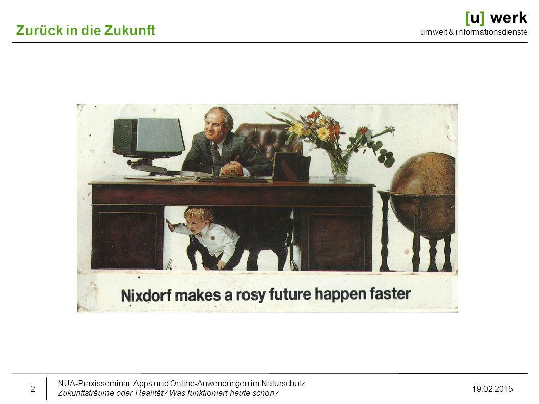[u] werk umwelt & informationsdienste Zurück in die Zukunft Nixdorf 8870/u Mittelstand und Banken heute: bundesweit > 40 Mio.