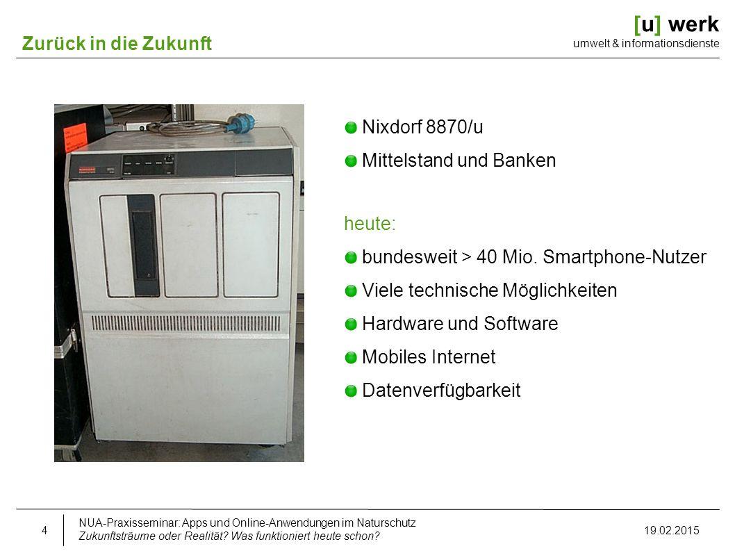 [u] werk umwelt & informationsdienste Die mobile Idee Zukunftsträume oder Realität.