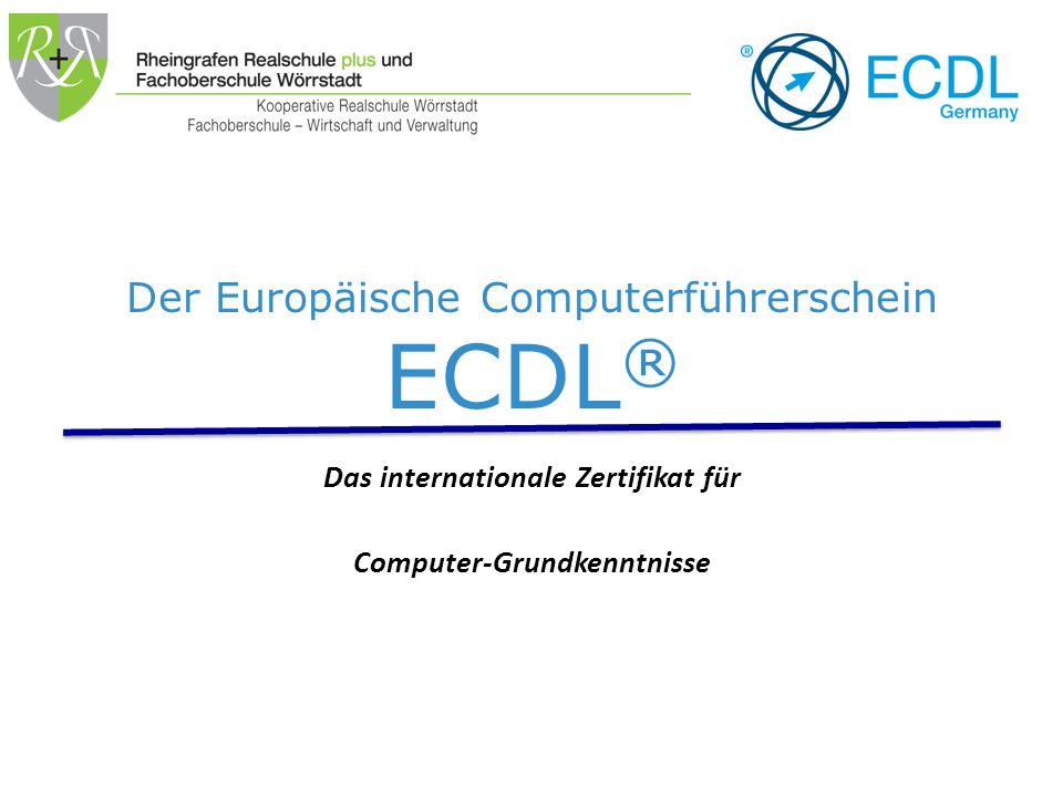 Themenübersicht Was ist der ECDL.Was bietet die Schule an.