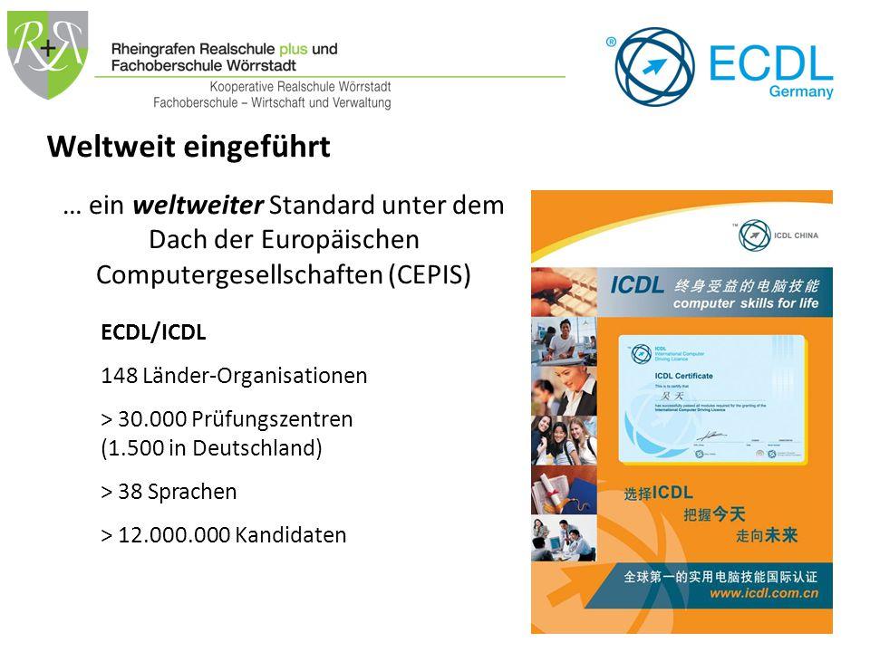 """Diagnosetest pro Modul 9,60 € CERT–ID: pro Teilnehmer 33,50 € (lebenslang gültig) 13,10 € """"Anmeldegebühr Gebühren für 4 Module ECDL™ Base/Profile 7 Module ECDL™ ECDL™ 130 € Werden bei Bedarf mit der Prüfungsgruppe durchgeführt und sind in den Kosten anteilig enthalten Gebühren für 3 weitere Module ECDL™ Base 90 € ECDL™ Profile 90 €"""