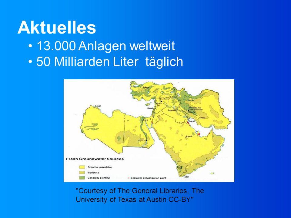 Aktuelles 13.000 Anlagen weltweit 50 Milliarden Liter täglich