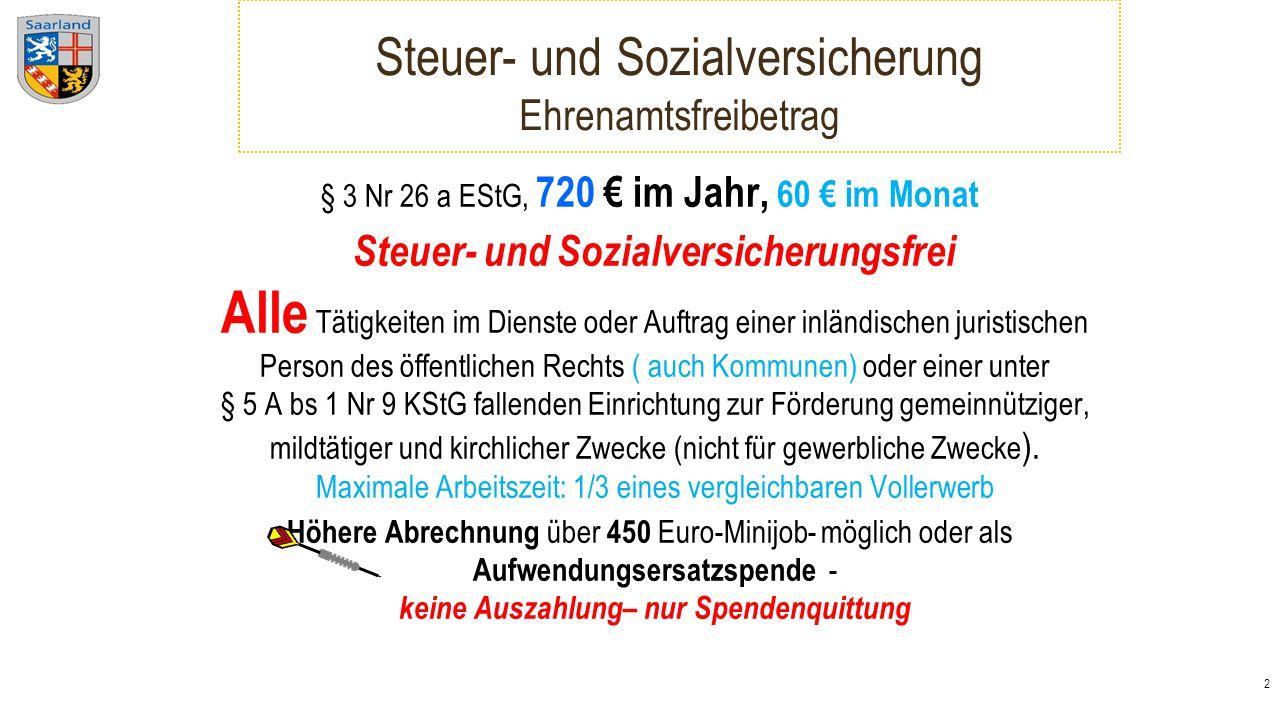 3 18 Hinweise für Personalkosten Anmeldepflicht - Minijob-zentrale.de Arbeitsentgelt bis 450 Euro im Monat generelle Steuerpflicht - 2 % - pauschal Krankenversicherung - 13 % - pauschal Rentenversicherung - 15 % - pauschal >155€ Aufwendungsausgleichsgesetz - + U1 + U2 + BG 31% Abgaben .