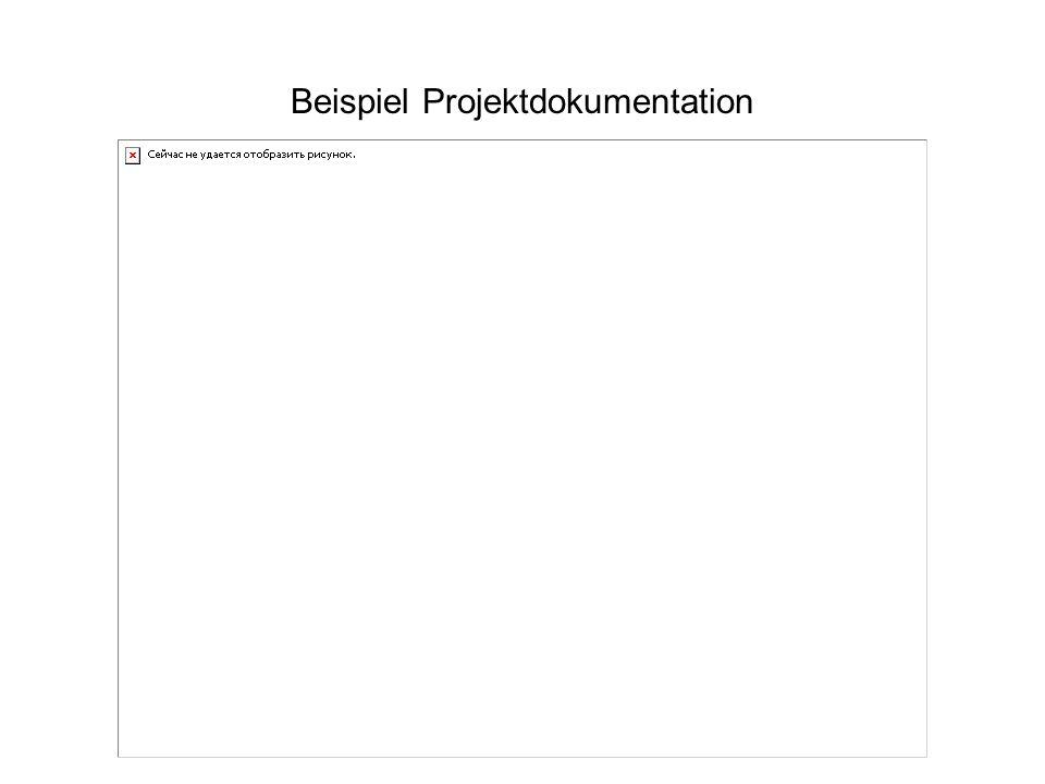 Beispiel Projektdokumentation