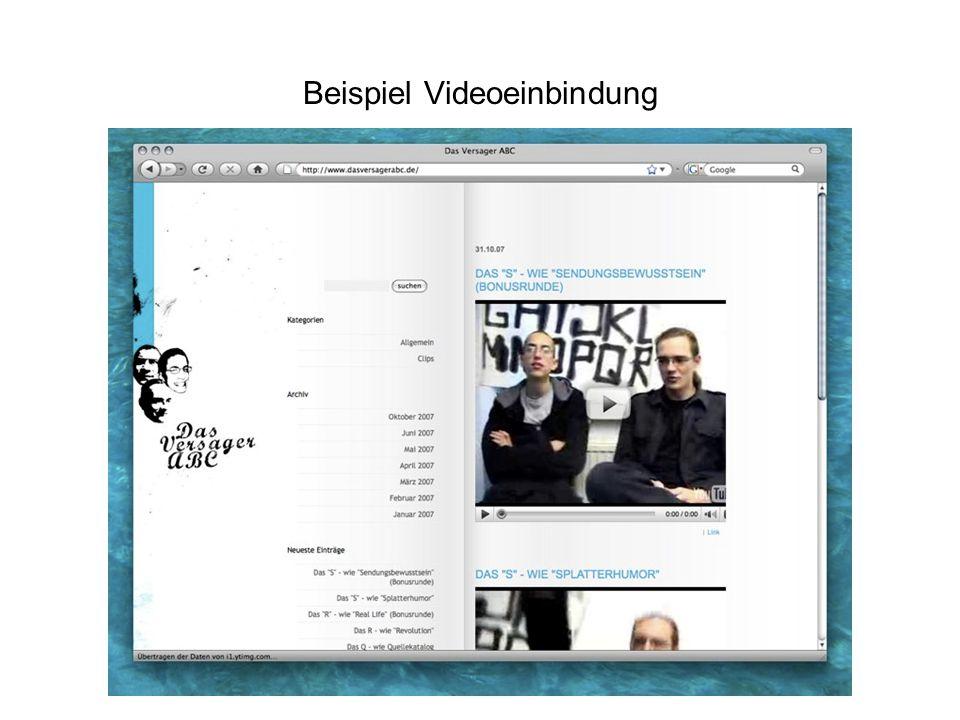 Beispiel Videoeinbindung