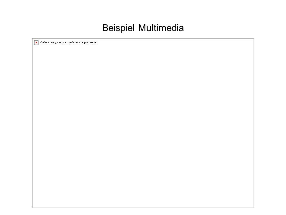 Beispiel Multimedia
