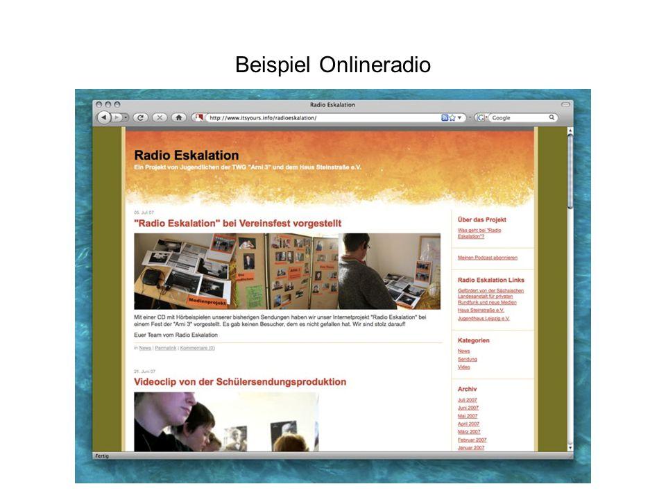 Beispiel Onlineradio