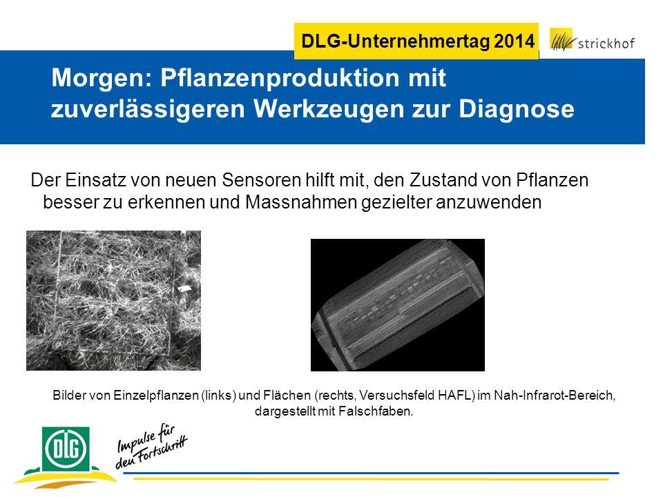 DLG-Unternehmertag 2014 Der Einsatz von neuen Sensoren hilft mit, den Zustand von Pflanzen besser zu erkennen und Massnahmen gezielter anzuwenden Morg
