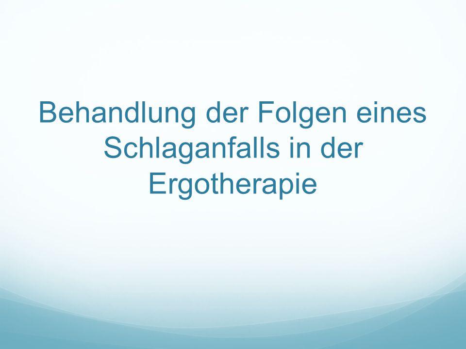 Behandlung der Folgen eines Schlaganfalls in der Ergotherapie