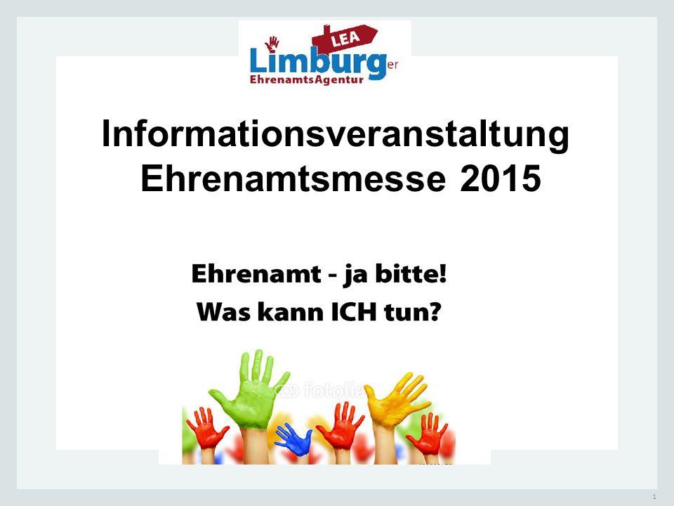 1 Informationsveranstaltung Ehrenamtsmesse 2015