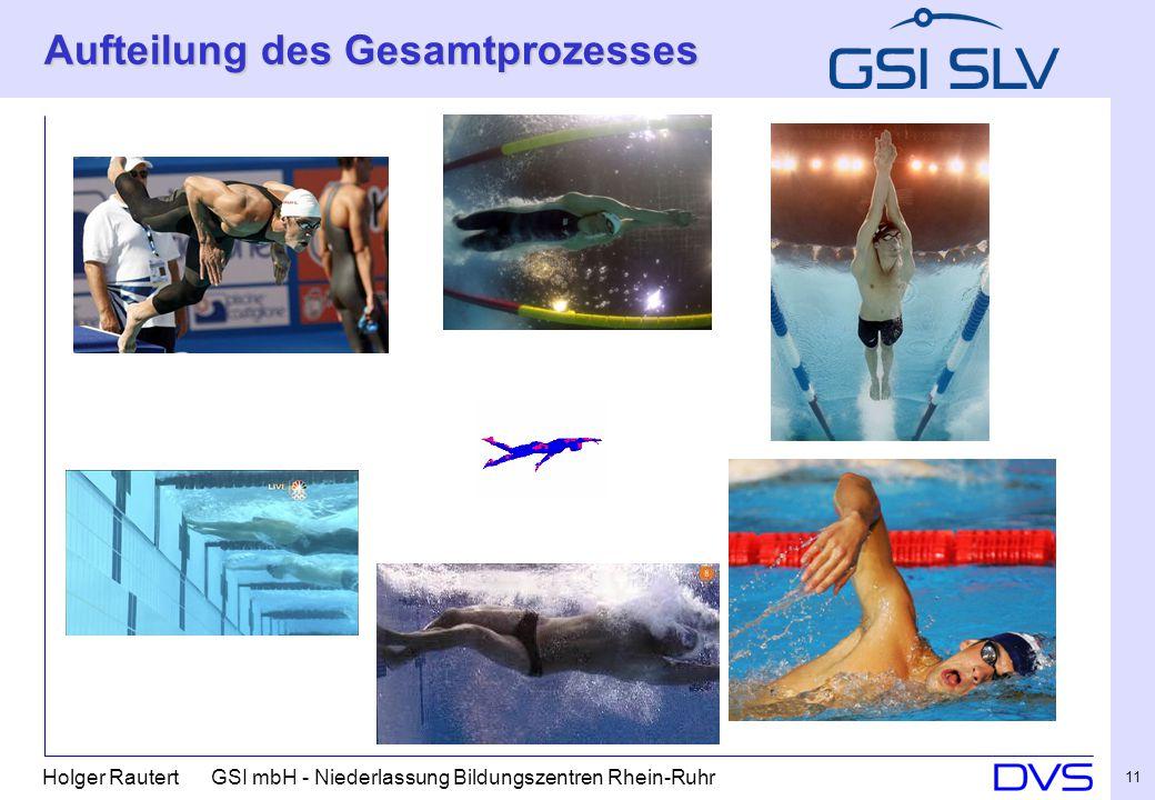 Holger Rautert GSI mbH - Niederlassung Bildungszentren Rhein-Ruhr 11 Aufteilung des Gesamtprozesses