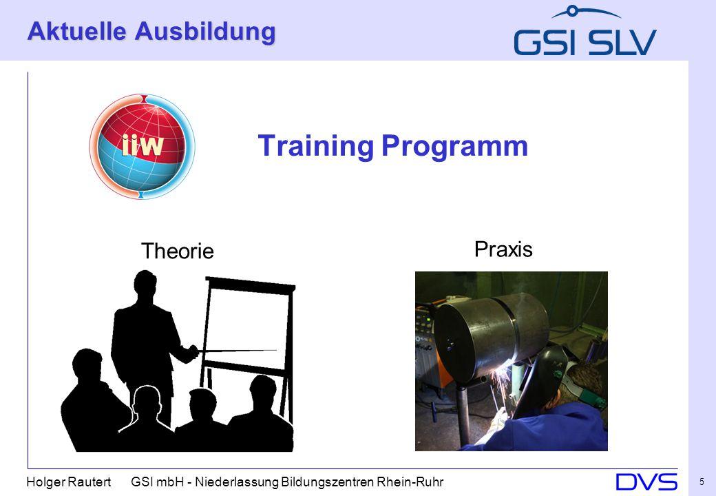 Holger Rautert GSI mbH - Niederlassung Bildungszentren Rhein-Ruhr 5 Aktuelle Ausbildung Training Programm Theorie Praxis