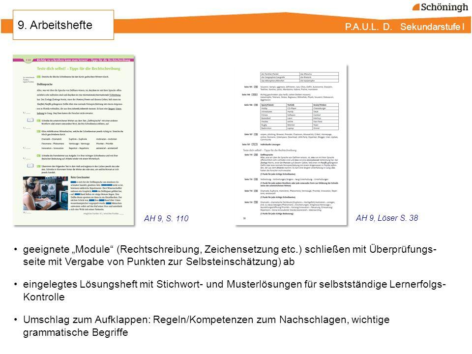 """P.A.U.L. D. Sekundarstufe I geeignete """"Module"""" (Rechtschreibung, Zeichensetzung etc.) schließen mit Überprüfungs- seite mit Vergabe von Punkten zur Se"""