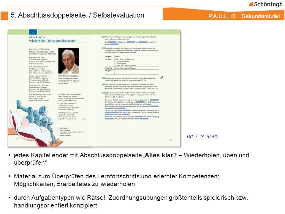 P.A.U.L.D. Sekundarstufe I 12. P.A.U.L. D. Hörverstehen - Zuhören Hörverstehen - Zuhören, Bd.
