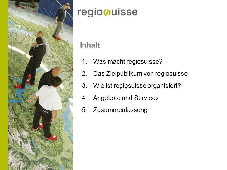 Inhalt 1.Was macht regiosuisse.