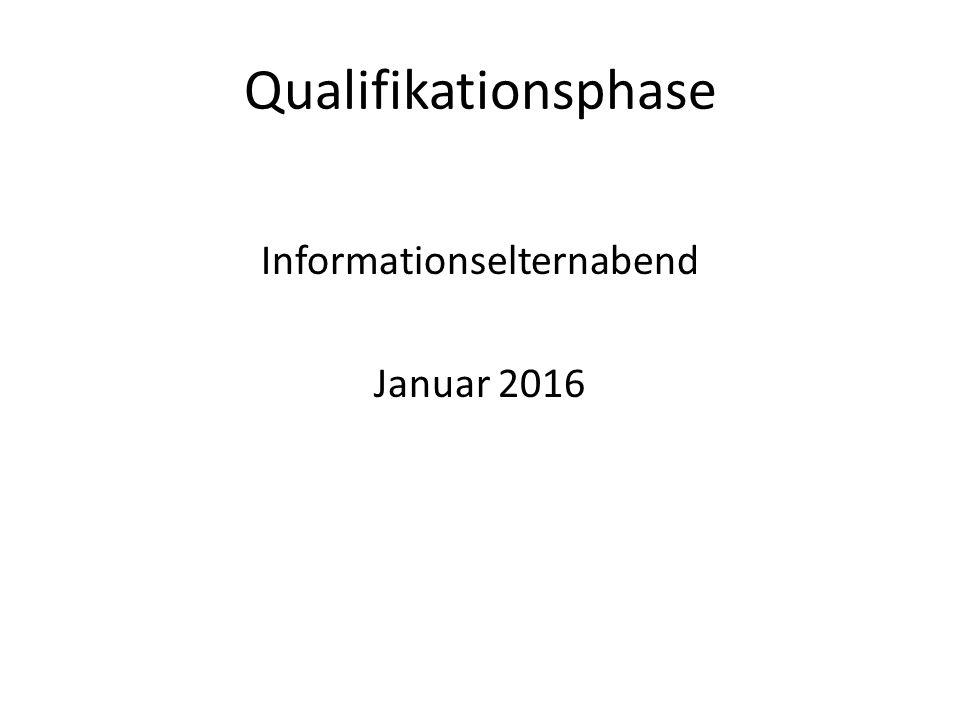 Qualifikationsphase Informationselternabend Januar 2016