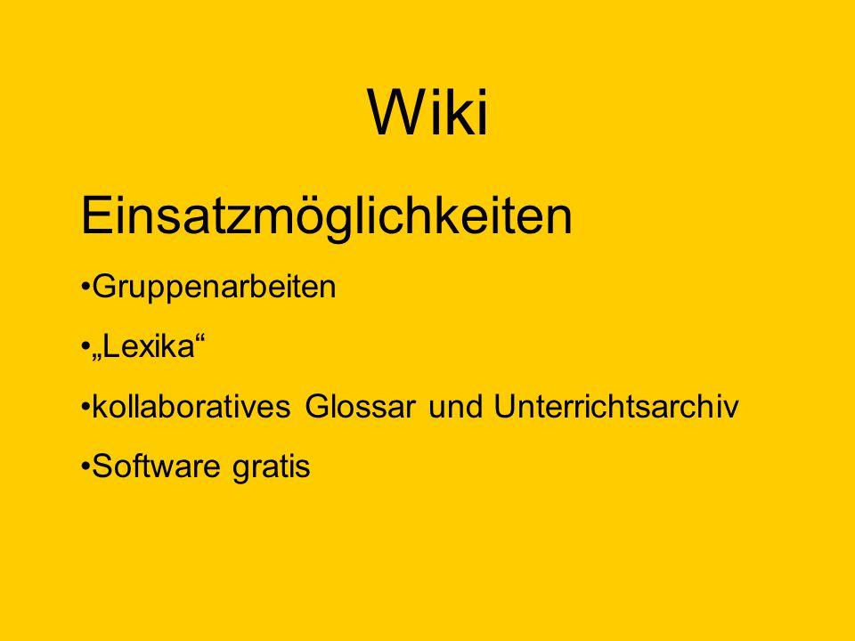 """Wiki Ein Wiki (hawaiisch für """"schnell""""), seltener auch WikiWiki oder WikiWeb genannt, ist ein Hypertext- System für Webseiten, dessen Inhalte von den"""