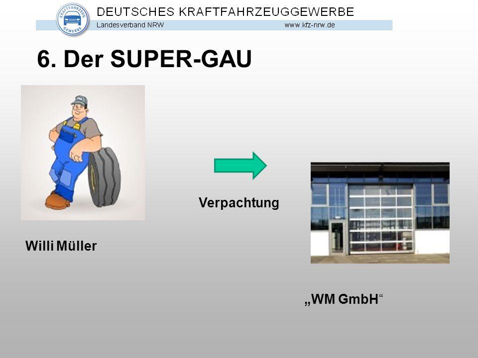 """6. Der SUPER-GAU Willi Müller """"WM GmbH"""" Verpachtung"""